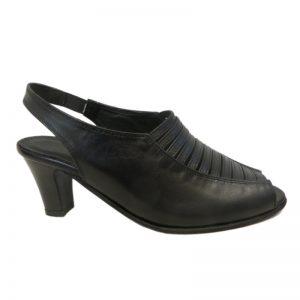 Sandale piele cu toc lat dame Sf.145