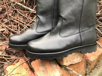 Cizme piele negre pentru fermieri Gb114