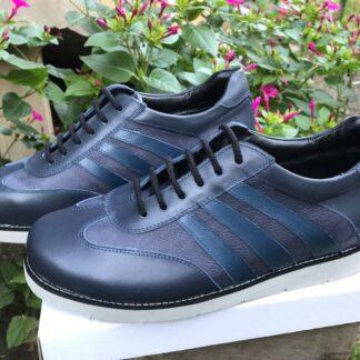 Pantofi casual sport din piele pt. un picior mai scurt Dp16