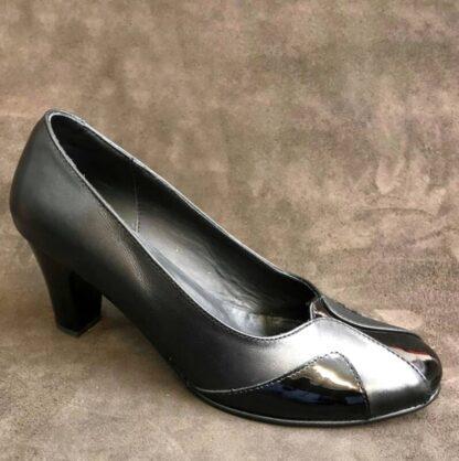 Pantofi cu toc din piele naturala Pf95