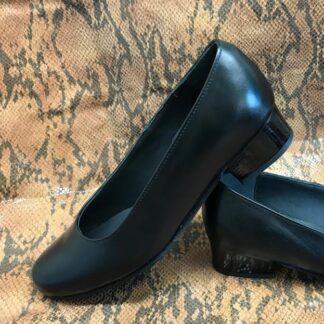 Pantofi stewardesa din piele naturala cu gleng de plastic Pf96