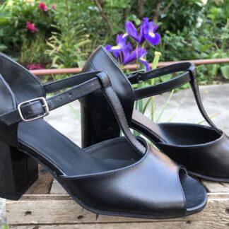 Sandale de vara cu toc din piele naturala Sf155